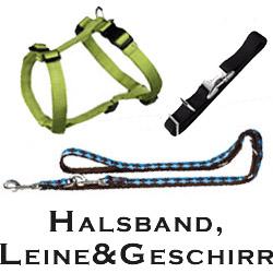 Halsbänder, Leinen & Geschirre