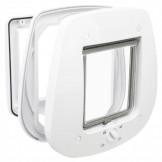 4-Wege Freilauftür für Glastüren, weiß 27x26 cm