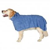 Bademantel für Hunde, blau
