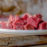 Barfgold Rindermuskelfleisch, durchwachsen, gewürfelt