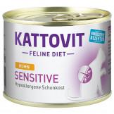 Kattovit Dose Sensitive mit Huhn 185g