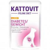 Kattovit Pouch Diabetes/Gewicht mit Huhn 85g
