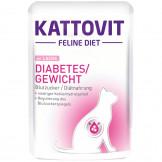 Kattovit Pouch Diabetes/Gewicht mit Lachs 85g