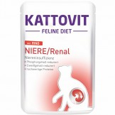 Kattovit Pouch Niere/Renal mit Rind 85g