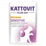 Kattovit Pouch Sensitive mit Huhn und Pute 85g