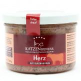 Katzengenuss Gourmet Herz mit Katzenminze 200g im Glas