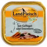 Landfleisch Cat Geflügel & Entenherz 100g