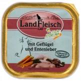 Landfleisch Cat Geflügel & Entenleber 100g