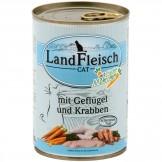 Landfleisch Cat Geflügel & Krabben 400g