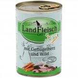 Landfleisch Cat Geflügelherzen & Wild 400g