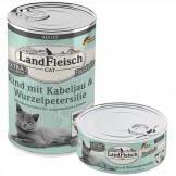 Landfleisch Cat Rind mit Kabeljau und Wurzelpetersilie