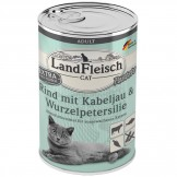 Landfleisch Cat Rind mit Kabeljau und Wurzelpetersilie 400g