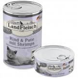 Landfleisch Cat Rind und Pute mit Shrimps