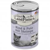 Landfleisch Cat Rind und Pute mit Shrimps 400g