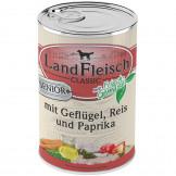 Landfleisch Senior Geflügel, Reis & Paprika