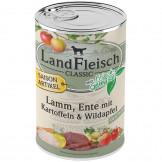 Landfleisch pur Lamm, Ente mit Kartoffeln u. Wildapfel