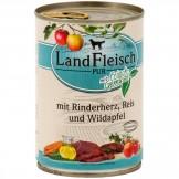 Landfleisch pur Rinderherz, Reis & Wildapfel