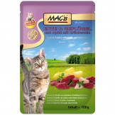 Macs Cat Pouch Ente + Geflügel 100g