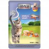 Macs Cat Pouch Hering + Shrimps 100g
