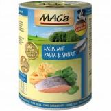 Macs Dog Lachs mit Pasta & Spinat
