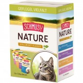 Schmusy Nature Flakes Geflügel Multipack 12 x 100g - Beutel