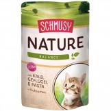Schmusy Nature Kitten mit Kalb 100g - Beutel