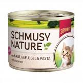 Schmusy Nature  Kitten mit Kalb 190g - Dose