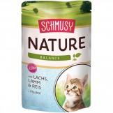 Schmusy Nature  Kitten mit Lachs 100g - Beutel