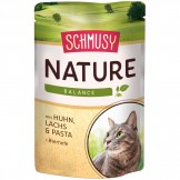 Schmusy Nature mit Huhn & Lachs 100g - Beutel