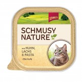 Schmusy Nature  mit Huhn & Lachs 100g - Schale