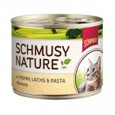 Schmusy Nature mit Huhn & Lachs 190g - Dose