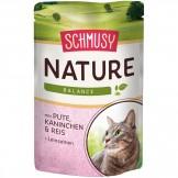 Schmusy Natures Menü mit Pute & Kaninchen 100g - Beutel