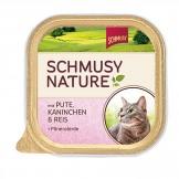 Schmusy Natures Menü mit Pute & Kaninchen 100g - Schale