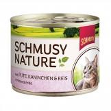 Schmusy Nature mit Pute & Kaninchen 190g - Dose