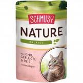 Schmusy Natures Menü mit Rind & Geflügel 100g - Beutel