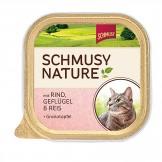 Schmusy Natures Menü mit Rind & Geflügel 100g - Schale