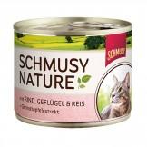 Schmusy Nature mit Rind & Geflügel 190g - Dose
