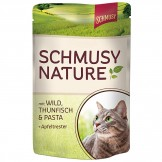 Schmusy Nature mit Wild & Thunfisch 100g - Beutel