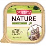 Schmusy Nature mit Wild & Thunfisch 100g - Schale