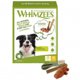 Whimzees Dog Variety Value Box M mit 28 Snacks (840g)