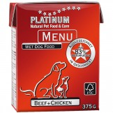 Platinum Menu Beef+Chicken 375g