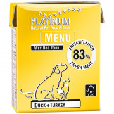 Platinum Menu Duck+Turkey 375g