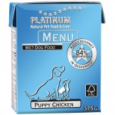 Platinum Menu Puppy Chicken 375g