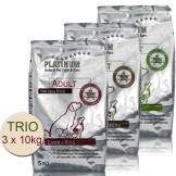 Platinum TRIO Adult Chicken 10kg+Iberico 10kg+Lamb&Rice 10kg