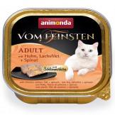 Animonda Cat v. Fein. Schlemmerkern Huhn + Lachsfilet 100g