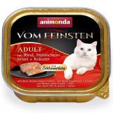 Animonda Cat v. Fein. Schlemmerkern Rind + Hühnerbrust 100g