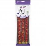 Dokas Dog Snack 1m Kaurolle mit Ente, 3x34cm, 315g