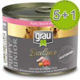 Grau Excellence PUPPY/JUNIOR Huhn, Rind und Hirse