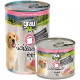 Grau Schlemmertopf Puppy/Junior mit Huhn, Rind und Hirse