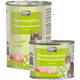 Grau Schlemmertöpfchen Huhn, Karotte und Katzenminze